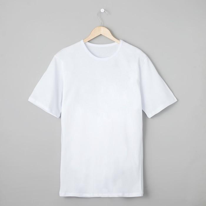 Футболка мужская БК-136 цвет белый, р-р 52