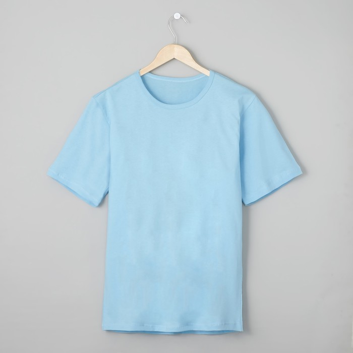 Футболка мужская БК-136 цвет голубой, р-р 72