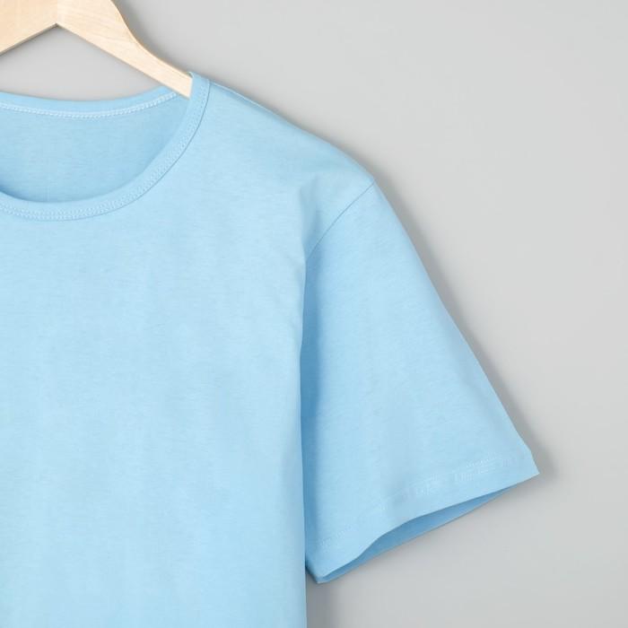Футболка мужская БК-136 цвет голубой, р-р 70