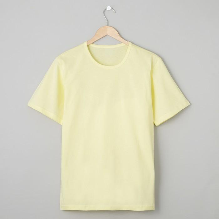Футболка мужская БК-136 цвет лимон, р-р 64