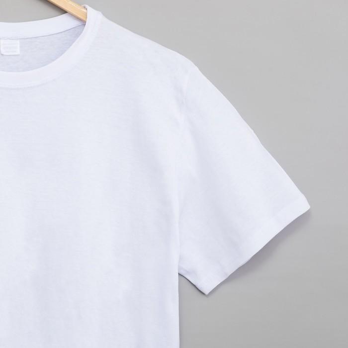 Футболка мужская цвет белый, р-р 52
