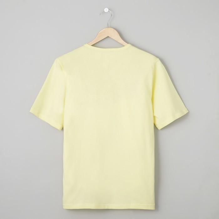 Футболка мужская БК-136 цвет лимон, р-р 68