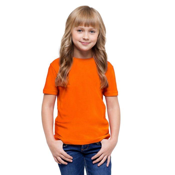 Футболка детская StanClass, рост 116 см, цвет оранжевый 140 г/м