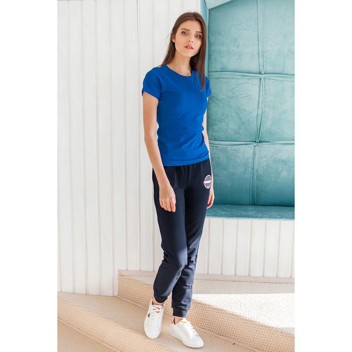 Футболка женская, цвет синий, р-р 50-52 (XL)