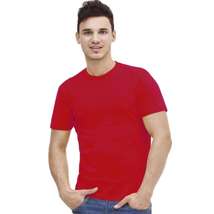 Футболка мужская StanAction, размер 44, цвет красный 160 г/м