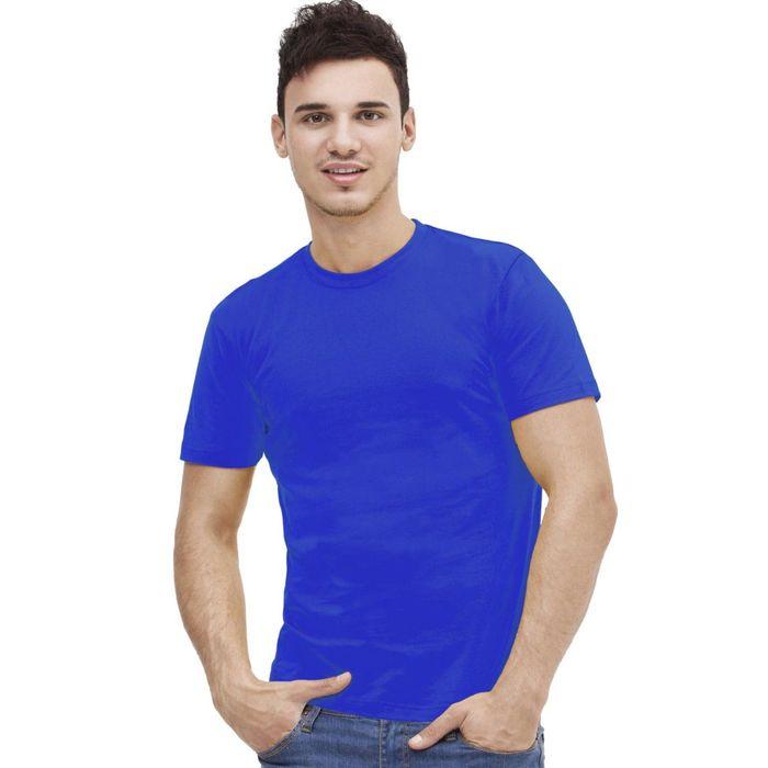 Футболка мужская StanAction, размер 46, цвет синий 160 г/м