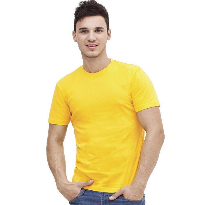 Футболка мужская StanAction, размер 50, цвет жёлтый 160 г/м