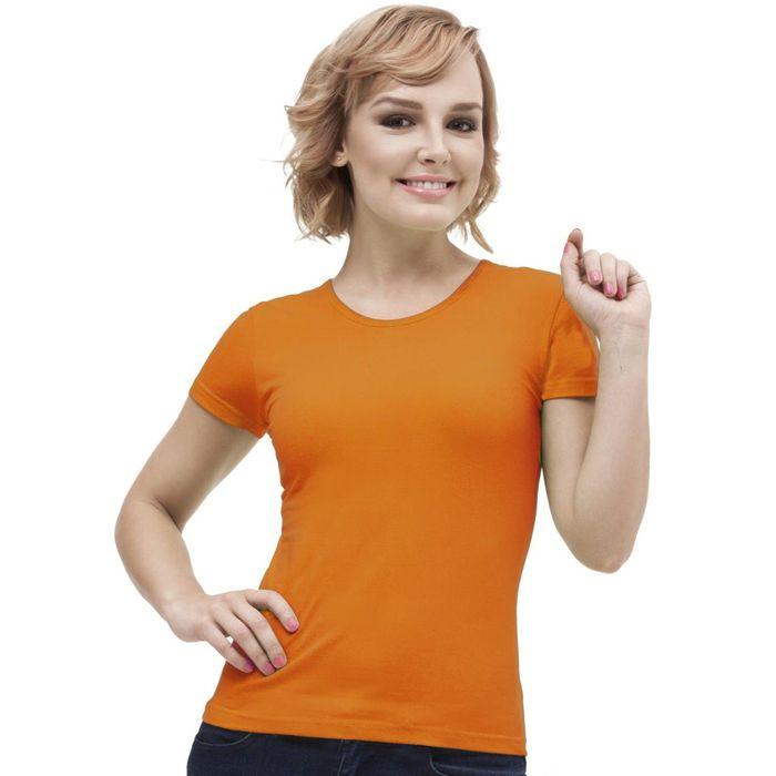 Футболка женская StanGalant, размер 46, цвет оранжевый 150 г/м