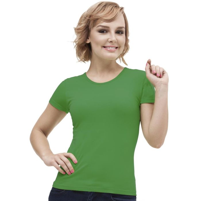 Футболка женская StanGalant, размер 42, цвет зелёный 150 г/м