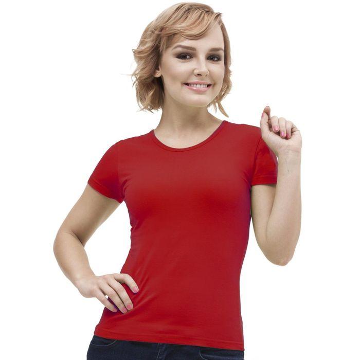 Футболка женская StanGalant, размер 46, цвет красный 150 г/м