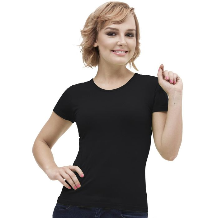 Футболка женская StanGalant, размер 46, цвет чёрный 150 г/м