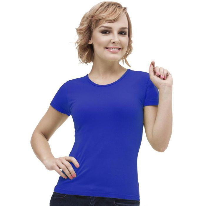 Футболка женская StanGalant, размер 46, цвет синий 150 г/м