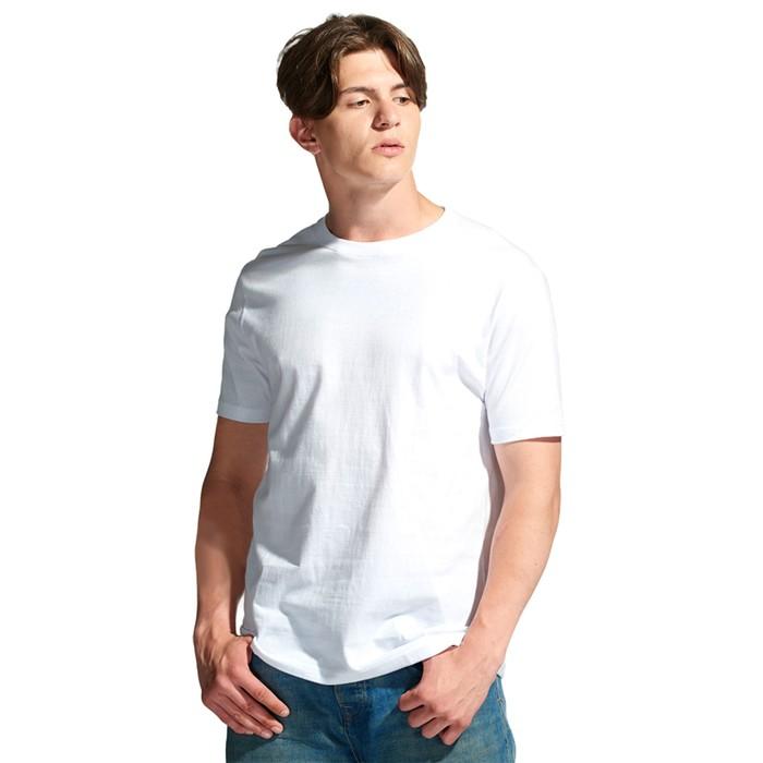 Футболка мужская StanGalant, размер 46, цвет белый 150 г/м