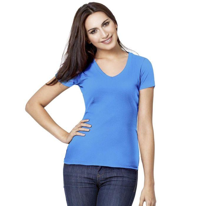 Футболка женская StanVictory, размер 42, цвет голубой 180 г/м