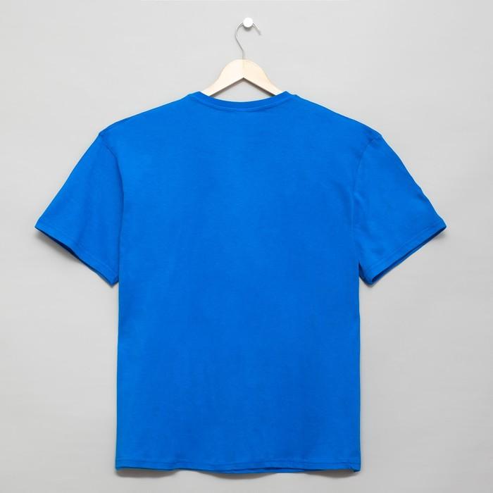 Футболка мужская, цвет васильковый, р-р 52