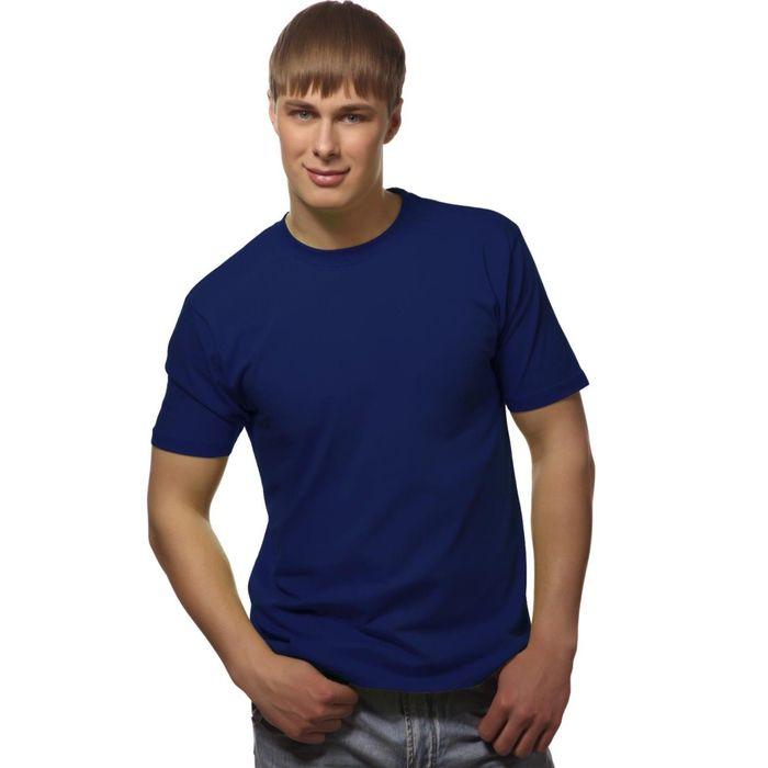 Футболка мужская StanGalant, размер 60, цвет синий 150 г/м