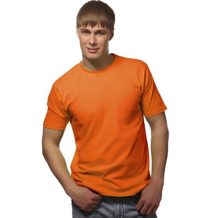Футболка мужская StanGalant, размер 48, цвет оранжевый 150 г/м