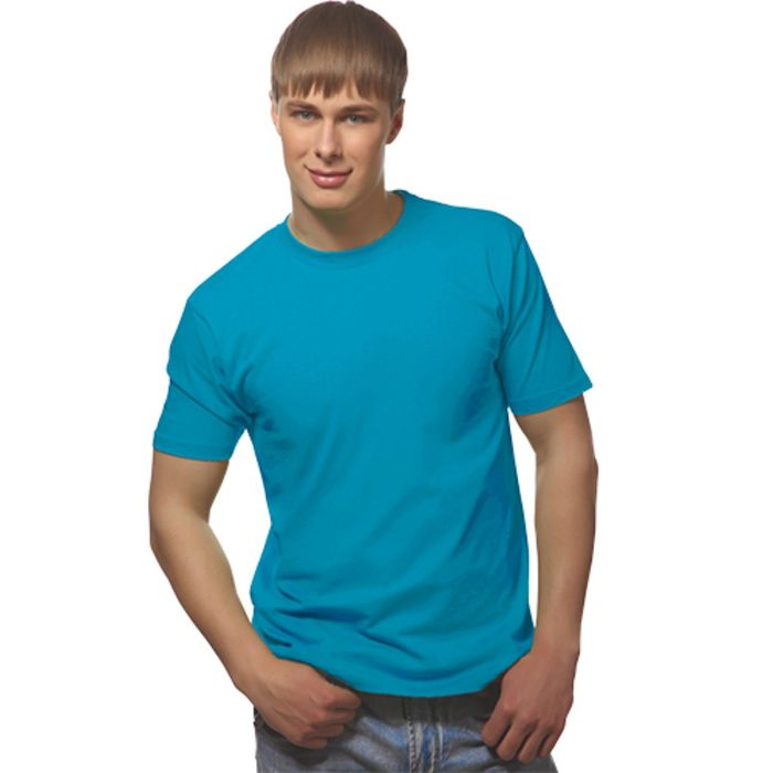 Футболка мужская StanGalant, размер 52, цвет лазурный 150 г/м