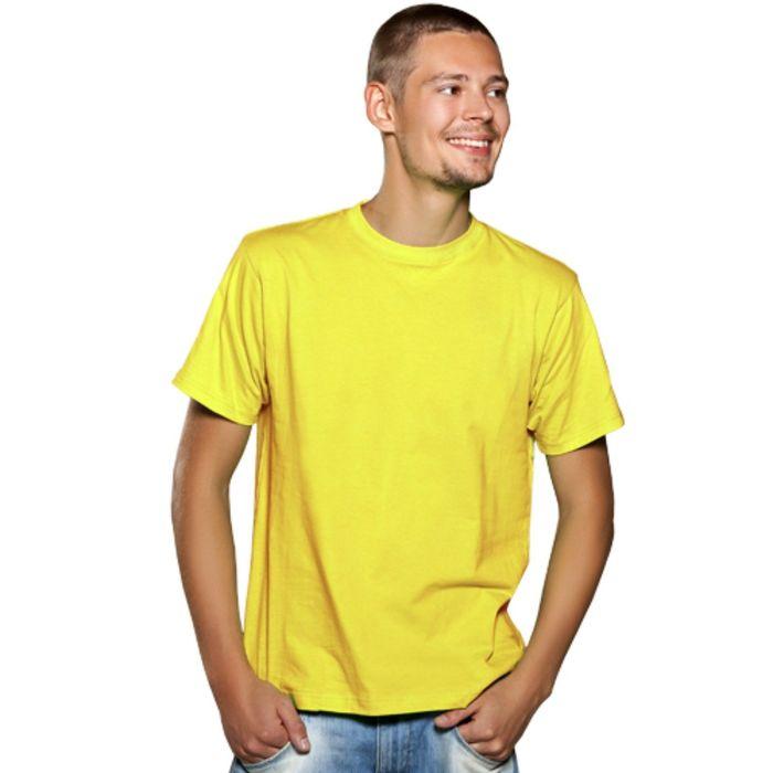 Футболка мужская StanGalant, размер 48, цвет жёлтый 150 г/м
