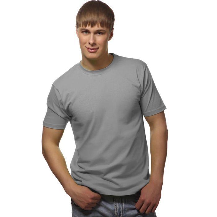 Футболка мужская StanGalant, размер 52, цвет светло-серый 150 г/м