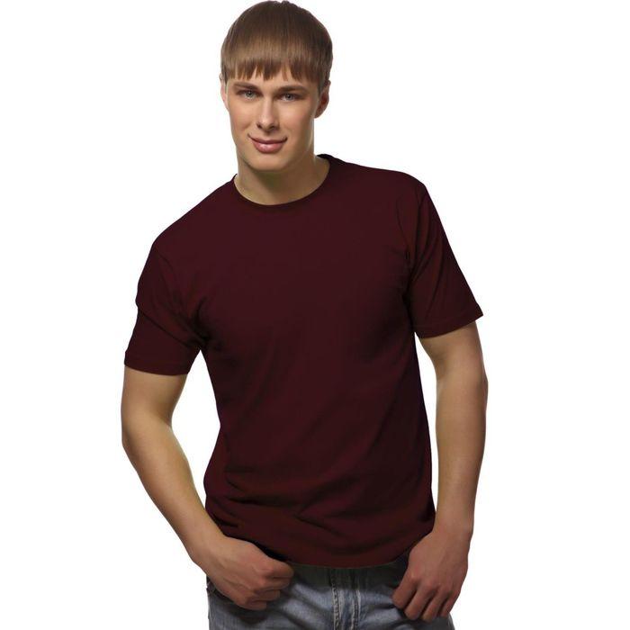 Футболка мужская StanGalant, размер 46, цвет винный 150 г/м