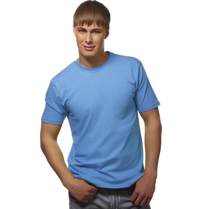 Футболка мужская StanGalant, размер 56, цвет голубой 150 г/м