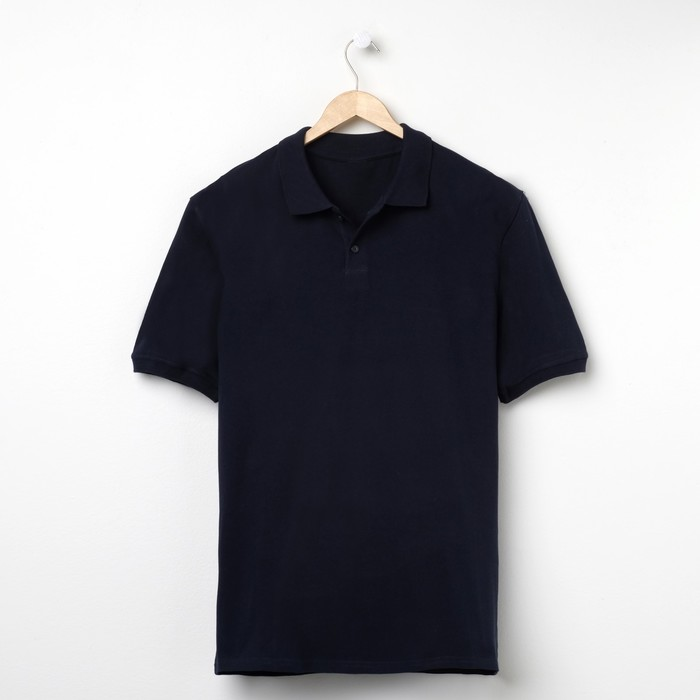 Футболка мужская поло цвет синий, р-р 56 (3xl)