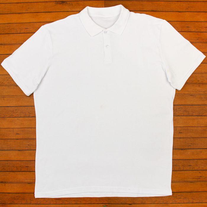 Футболка мужская поло цвет белый, р-р XXL