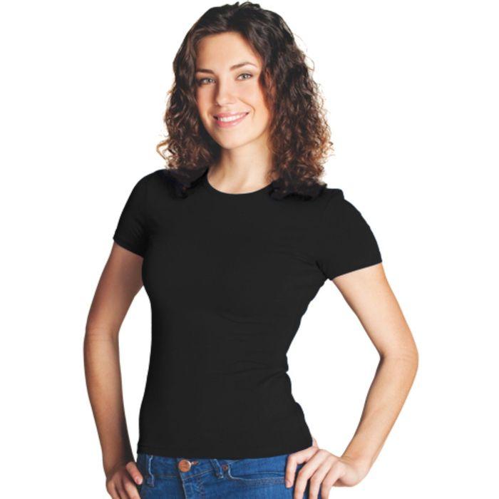 Футболка женская StanSlim, размер 44, цвет чёрный 180 г/м