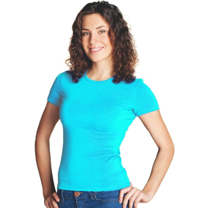 Футболка женская StanSlim, размер 52, цвет бирюзовый 180 г/м