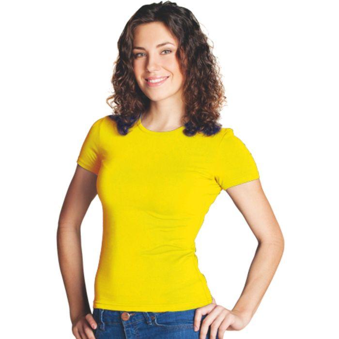 Футболка женская StanSlim, размер 50, цвет жёлтый 180 г/м