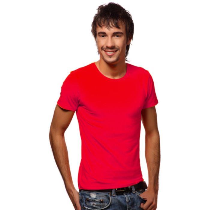 Футболка мужская StanSlim, размер 54, цвет красный 180 г/м