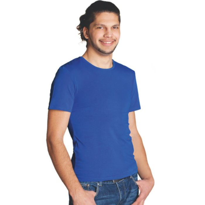 Футболка мужская StanSlim, размер 44, цвет синий 180 г/м