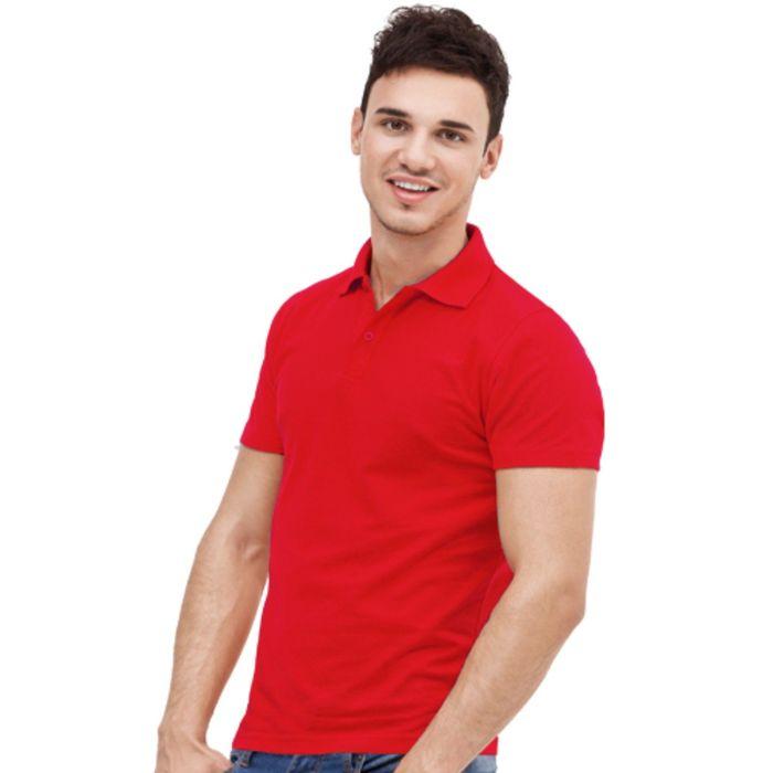 Рубашка-поло мужская StanUniform, размер 44, цвет красный 185 г/м