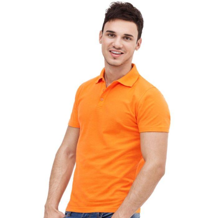 Рубашка-поло мужская StanUniform, размер 46, цвет оранжевый 185 г/м