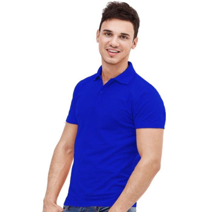 Рубашка-поло мужская StanUniform, размер 52, цвет синий 185 г/м