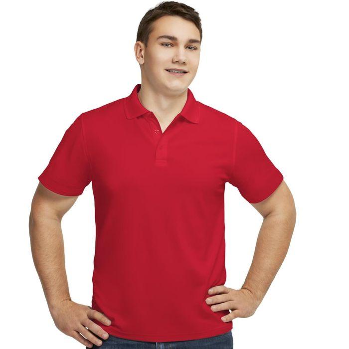 Рубашка-поло мужская StanPoli, размер 50, цвет красный 180 г/м