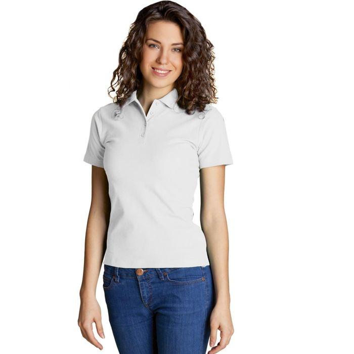 Рубашка-поло женская StanWomen, размер 44, цвет белый 185 г/м