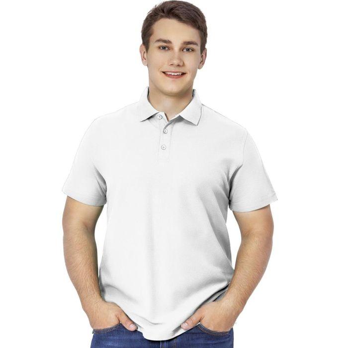 Рубашка-поло мужская StanPremier, размер 44, цвет белый 185 г/м