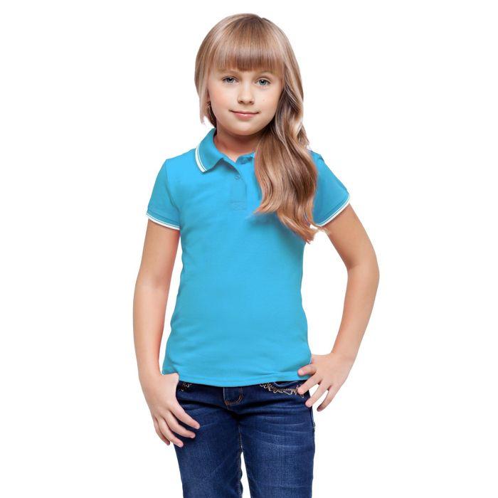 Рубашка-поло детская StanTrophy Junior, 8 лет, цвет бирюзовый 185 г/м
