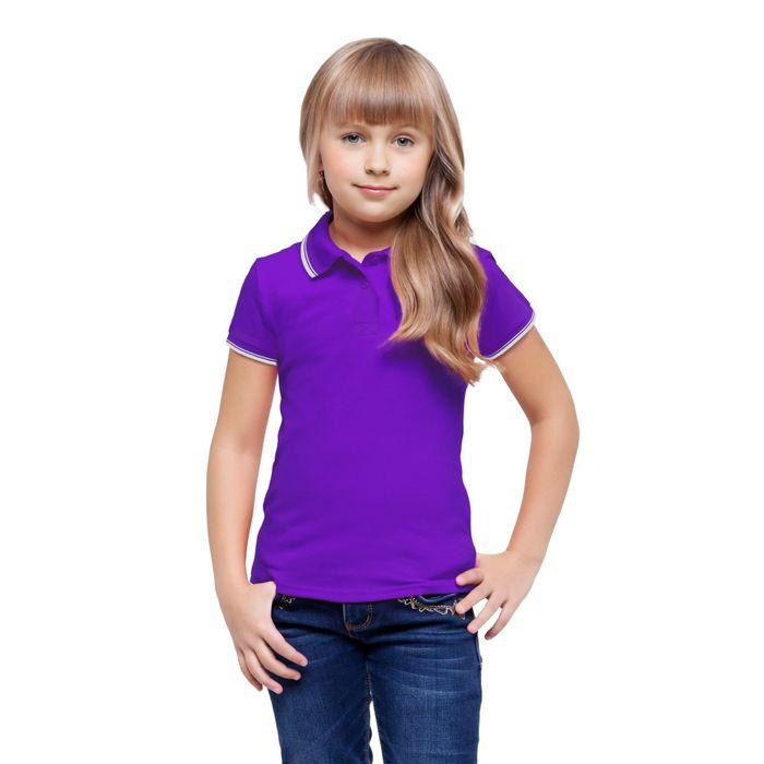 Рубашка-поло детская StanTrophy Junior, 10 лет, цвет фиолетовый 185 г/м