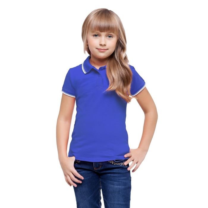 Рубашка-поло детская StanTrophy Junior, 8 лет, цвет синий 185 г/м
