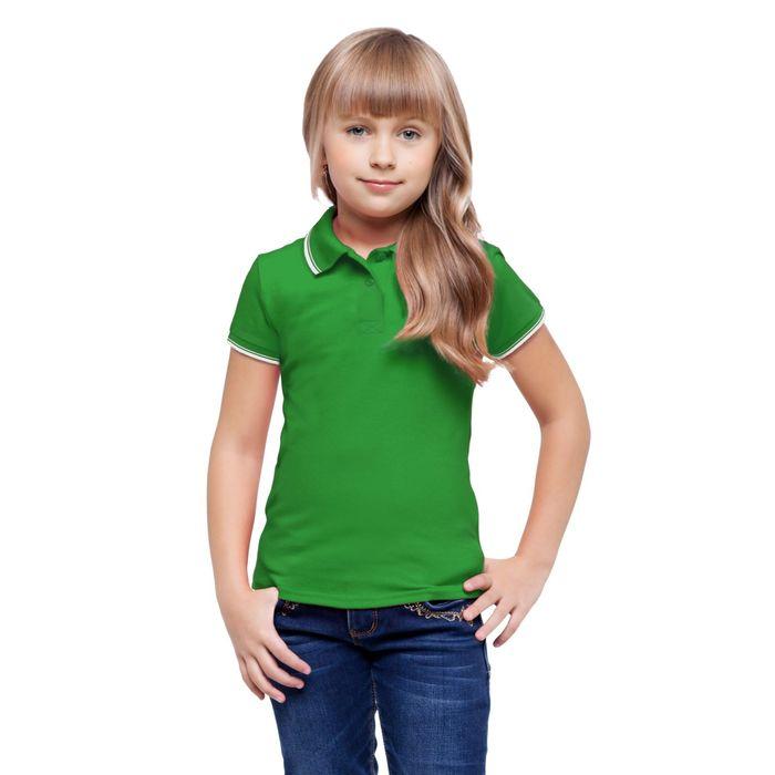 Рубашка-поло детская StanTrophy Junior, 6 лет, цвет зелёный 185 г/м