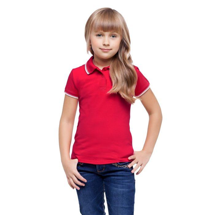 Рубашка-поло детская StanTrophy Junior, 12 лет, цвет красный 185 г/м