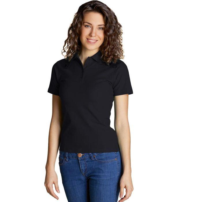 Рубашка-поло женская StanWomen, размер 42, цвет чёрный 185 г/м