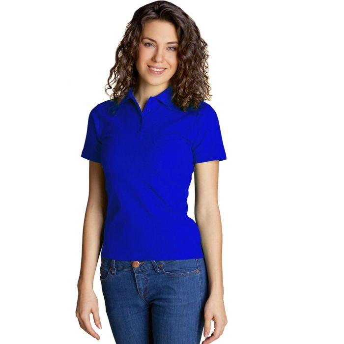 Рубашка-поло женская StanWomen, размер 52, цвет синий 185 г/м