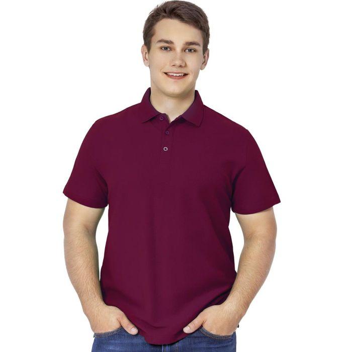 Рубашка-поло мужская StanPremier, размер 44, цвет винный 185 г/м