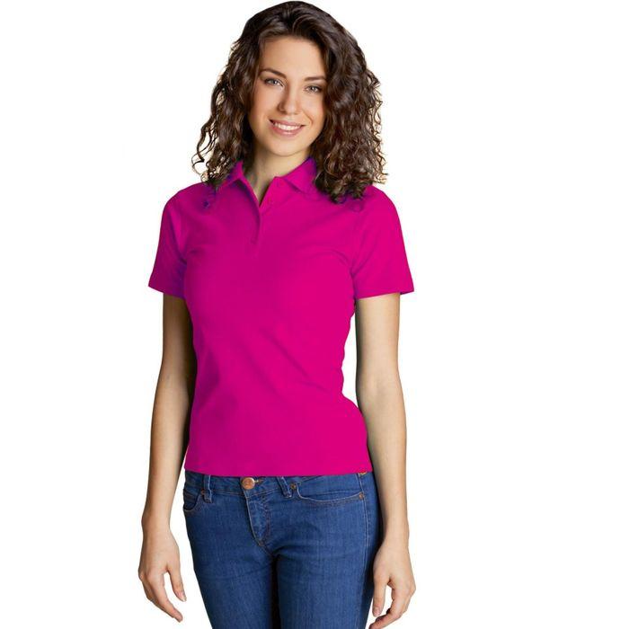 Рубашка-поло женская StanWomen, размер 48, цвет маджента 185 г/м