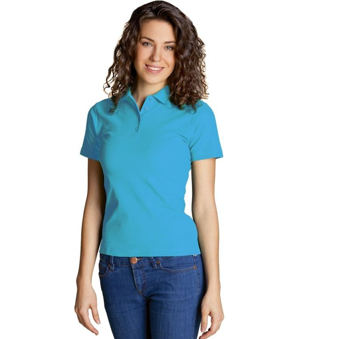 Рубашка-поло женская StanWomen, размер 48, цвет бирюзовый 185 г/м