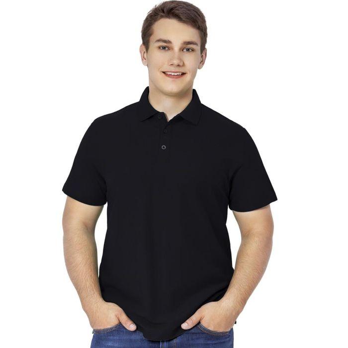 Рубашка-поло мужская StanPremier, размер 48, цвет чёрный 185 г/м